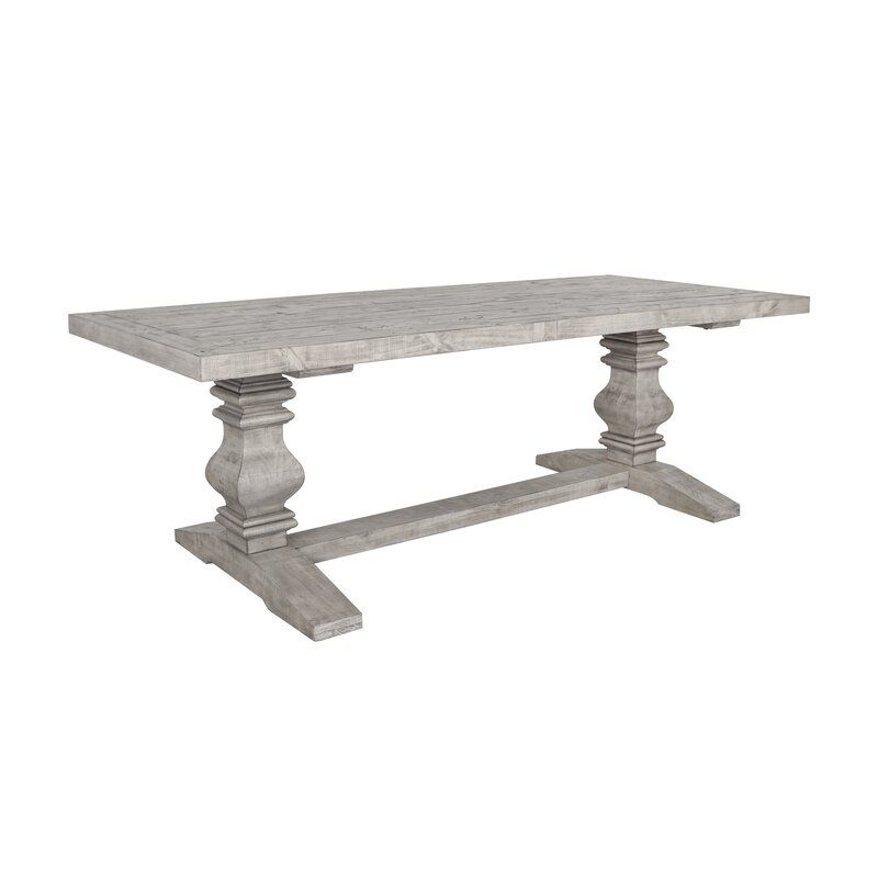 Mcdougall Trestle Dining Table Dining Table Wood Dining Table Solid Wood Dining Table Solid wood trestle dining table