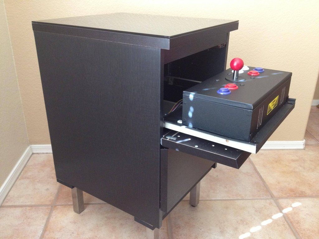 Cocktail table arcade cabinet diy nerd pinterest for Cocktail tables diy