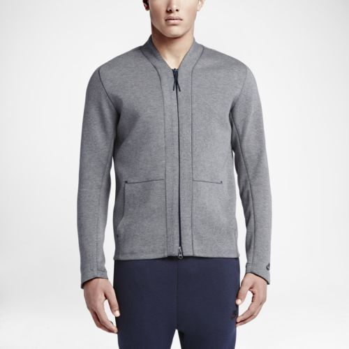 Men's Nike Tech Fleece Cardigan Carbon Heather Size LARGE 744481 ...