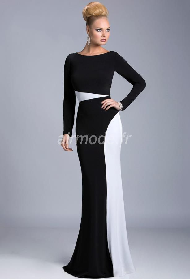 Robe soiree black and white