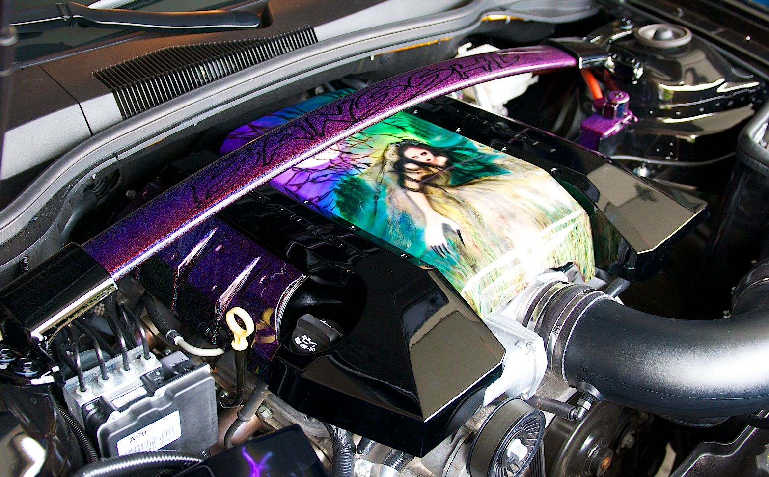 medium resolution of custom airbrush engine cover custom airbrushing custom paint engine motor engine