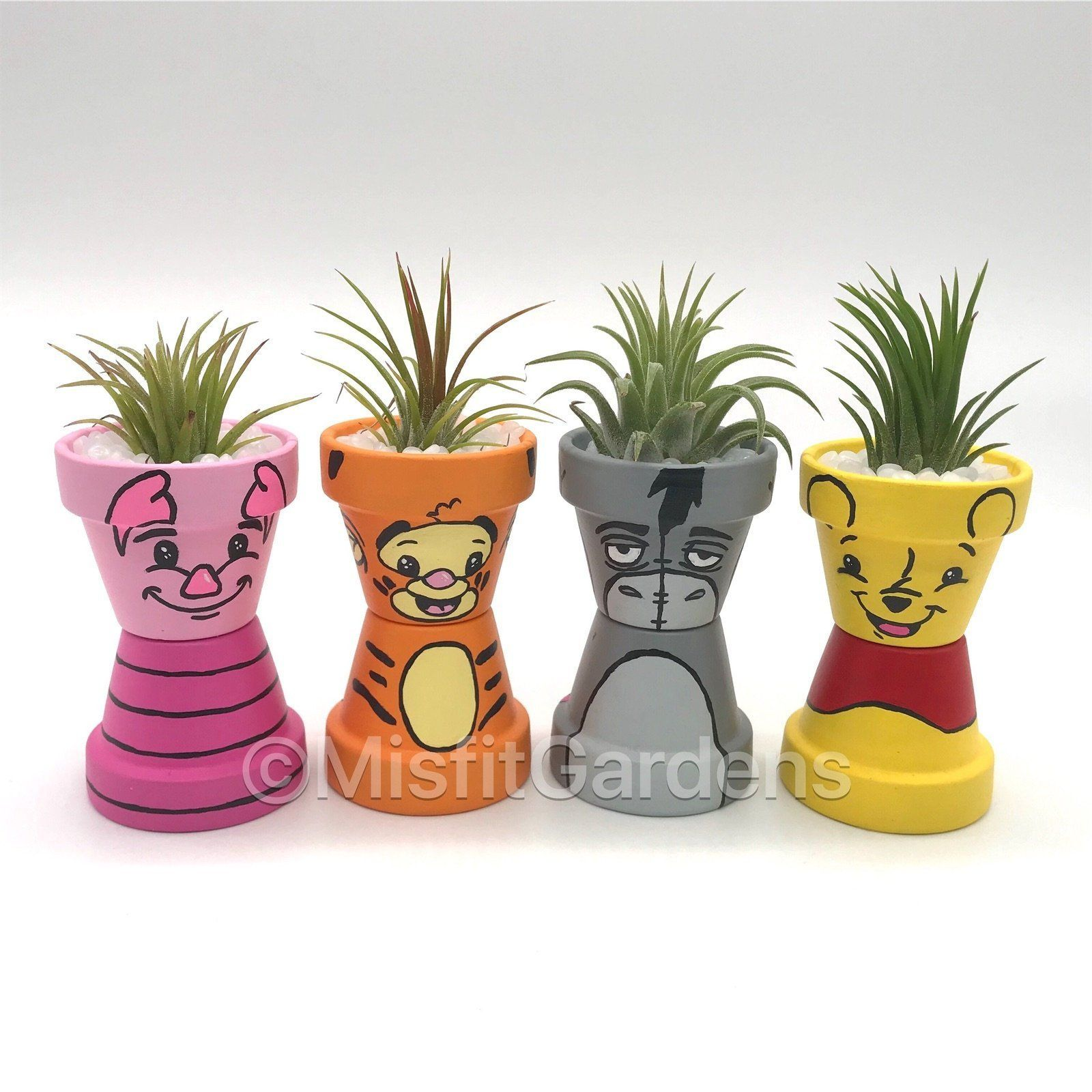 Winnie the Pooh and Friends - Mini Air Plant Holder Set with Plants #flowerpot