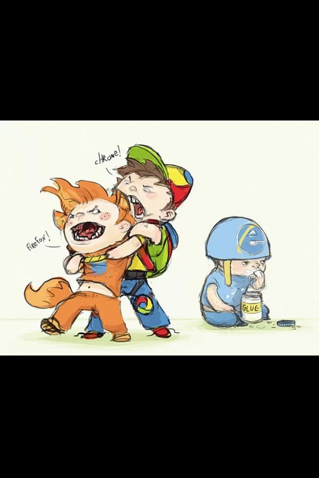 The Browser Wars Ie Chrome Firefox Web Internet Kid