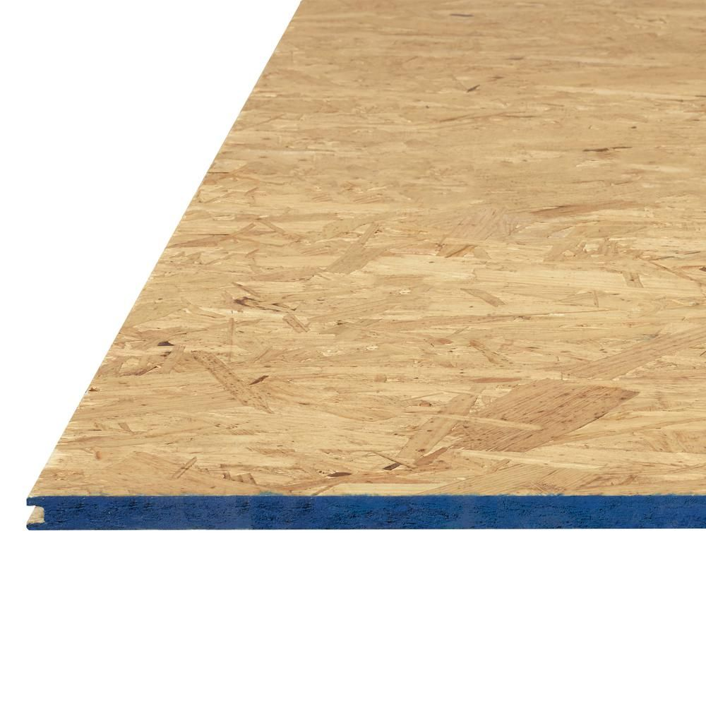 Attic Pine Oriented Strand Board Common 5 8 In X 2 Ft X 4 Ft Actual 0 594 In X 23 75 In X 47 75 In 263117 The Home Depot Oriented Strand Board Strand Board Particle Board