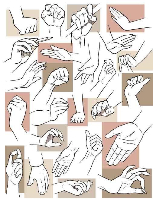Anatoref Manga Drawing Hand Reference Drawings