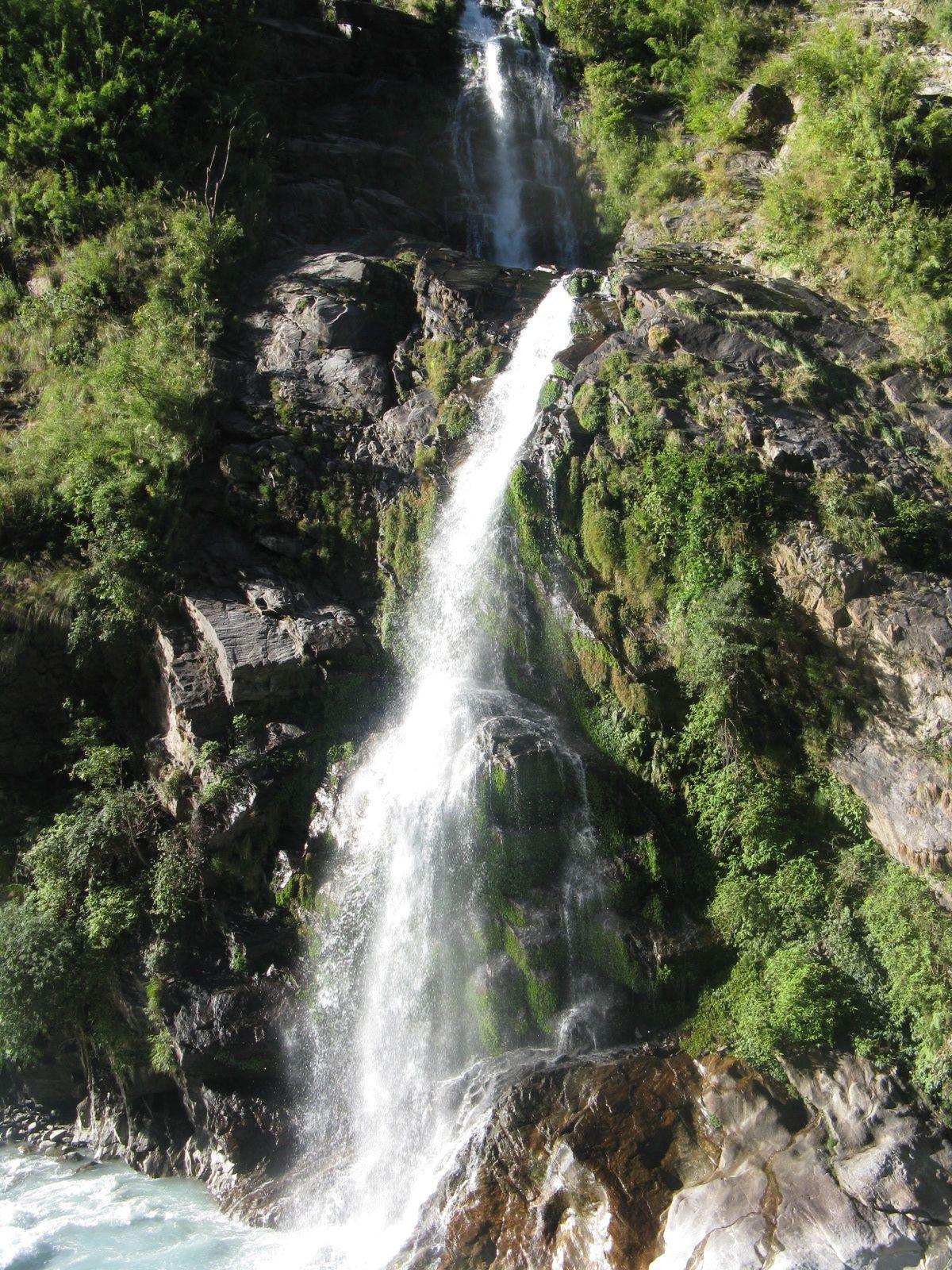 Great Water Fall View In Annapurna Round (circuit) Trekking