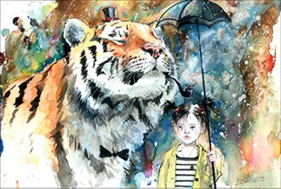 Canvas - Lora Zombie- Mr Tiger, 70x110cm