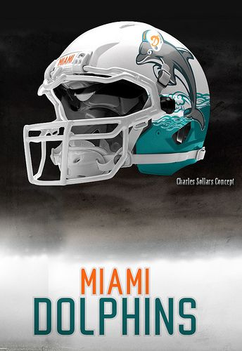 1a8c30a0 dolphins 19 | Charles Sollars Concept | Nfl football helmets ...