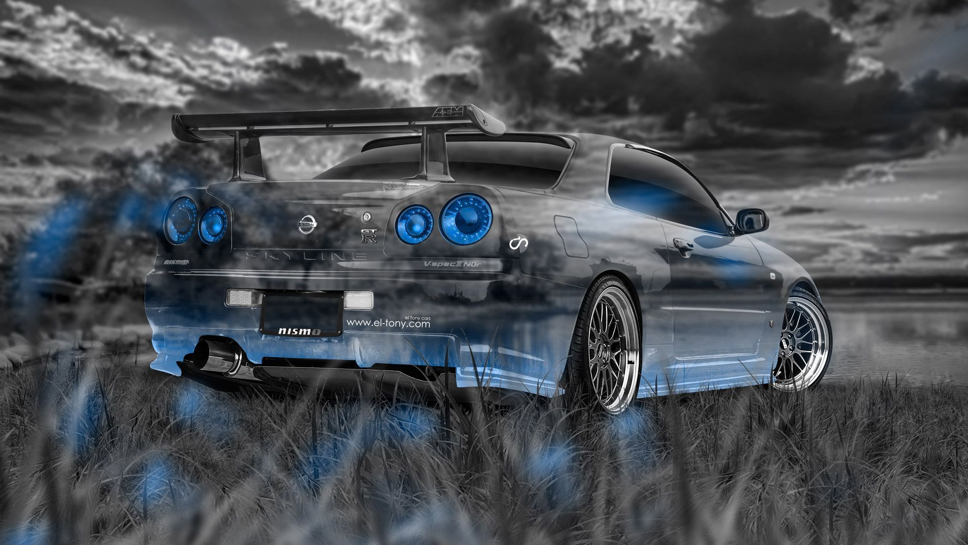 Nissan Skyline GTR R34 JDM Crystal Nature Car 2014 El Tony