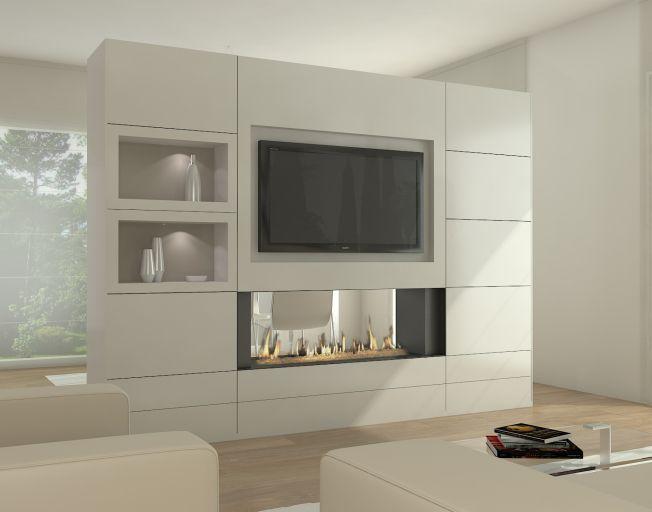 Resultado De Imagen De Muebles Salon Con Chimenea