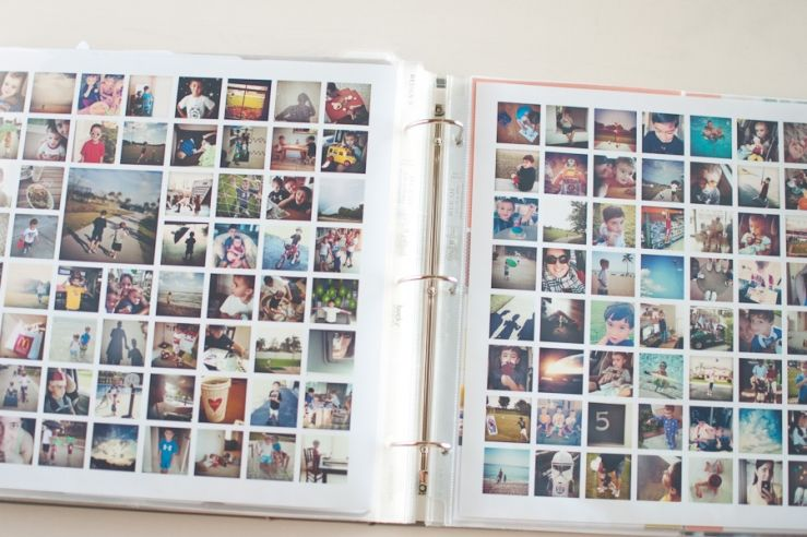 year in review for project life album = simply white - the squares v1 photo collage templates ==> tracy-larsen.com/blog/shop