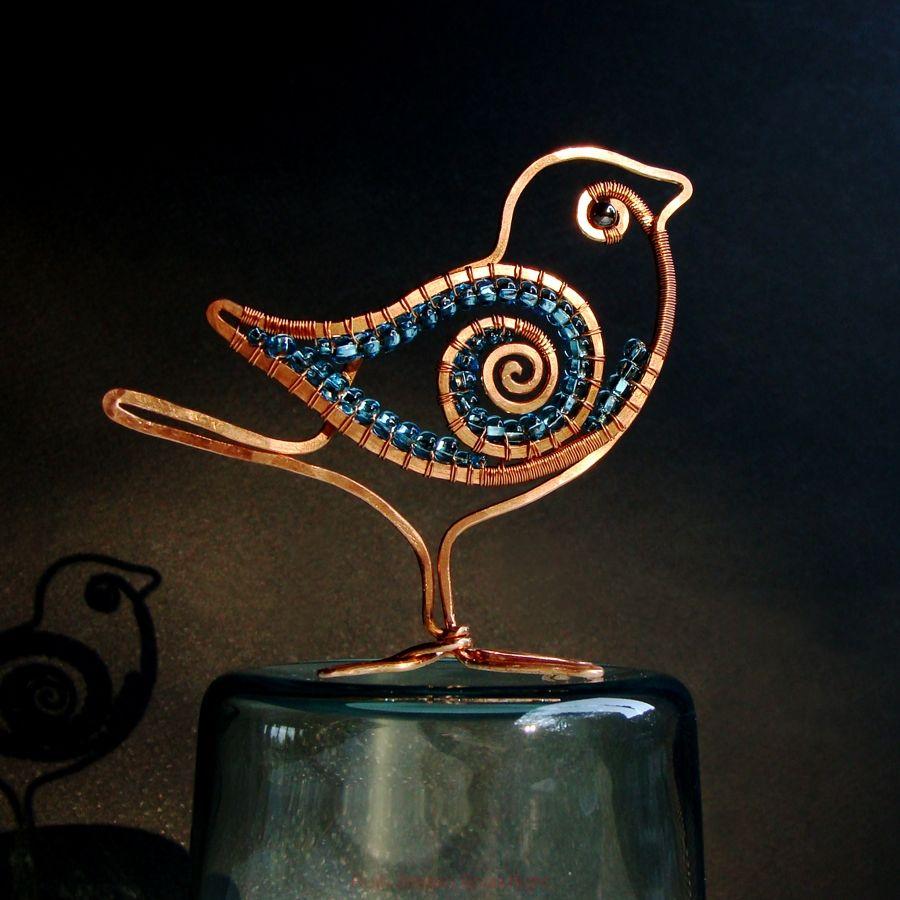 Copper Wire Flat Bird - SOLD | JudeVee - Little Gems | Pinterest ...