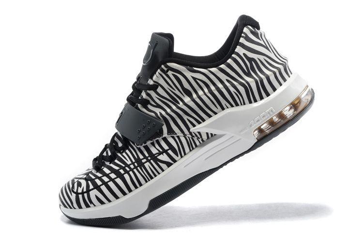 meet 27582 7db83 WMNS KD 7 GS EXT ID animal prints pony hair zebra Black White
