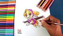 Como Dibujar A Skye De La Patrulla Canina How To Draw Paw Patrol Skye Character Fictional Characters Mario Characters