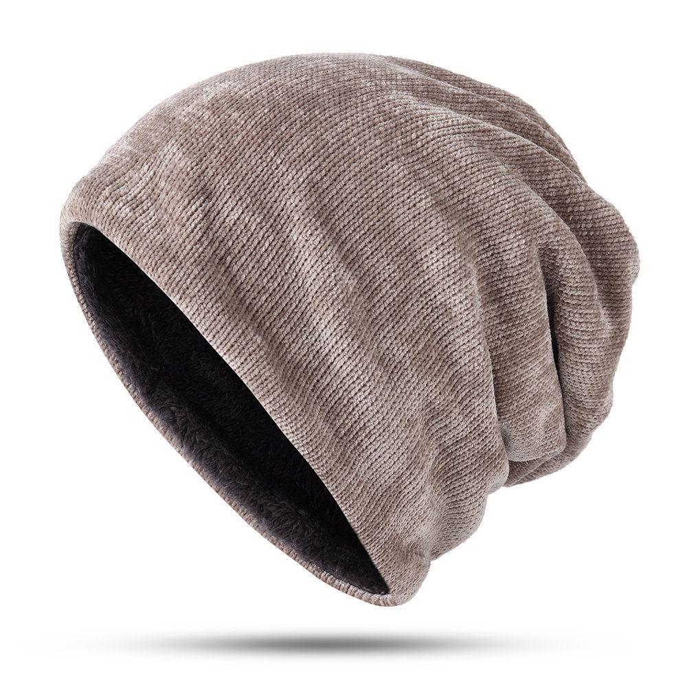 Men Women Winter Warm Beanie Thickening Knitted Hat Unisex Outdoor Ski Skull Cap