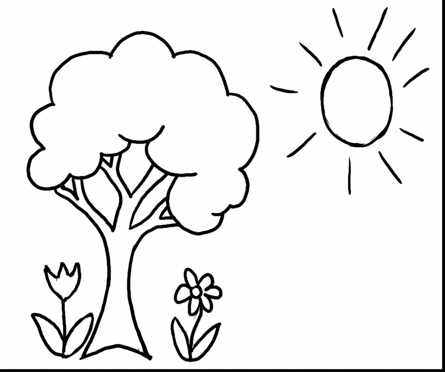 surprising spring tree coloring pages printable with spring coloring ...