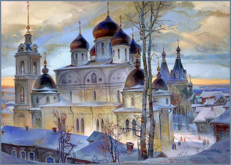 Michail Shelukhin. Lacquer art from Fedoskino. Dmitrov Kremlin.