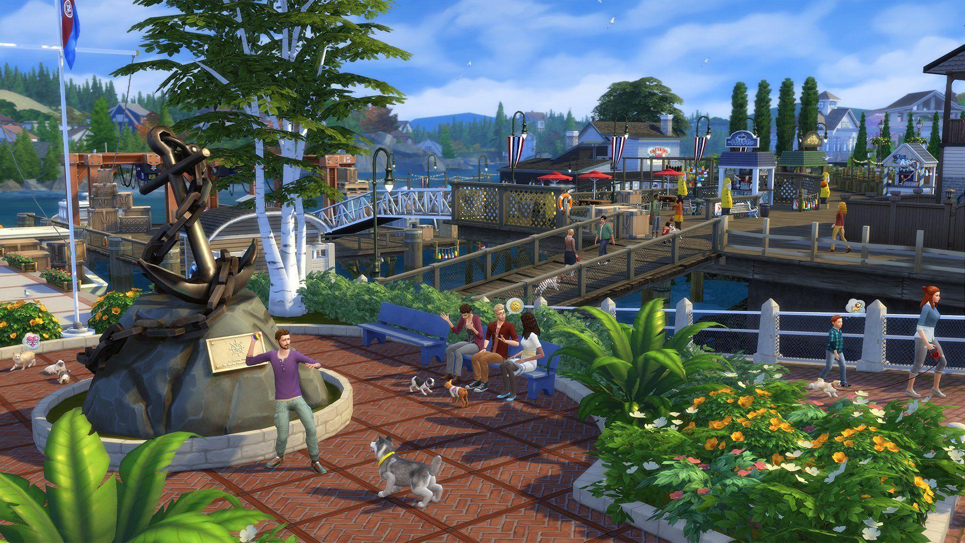 Amazon Com The Sims 4 Cats Dogs Video Games Sims 4 Sims Singapore Garden