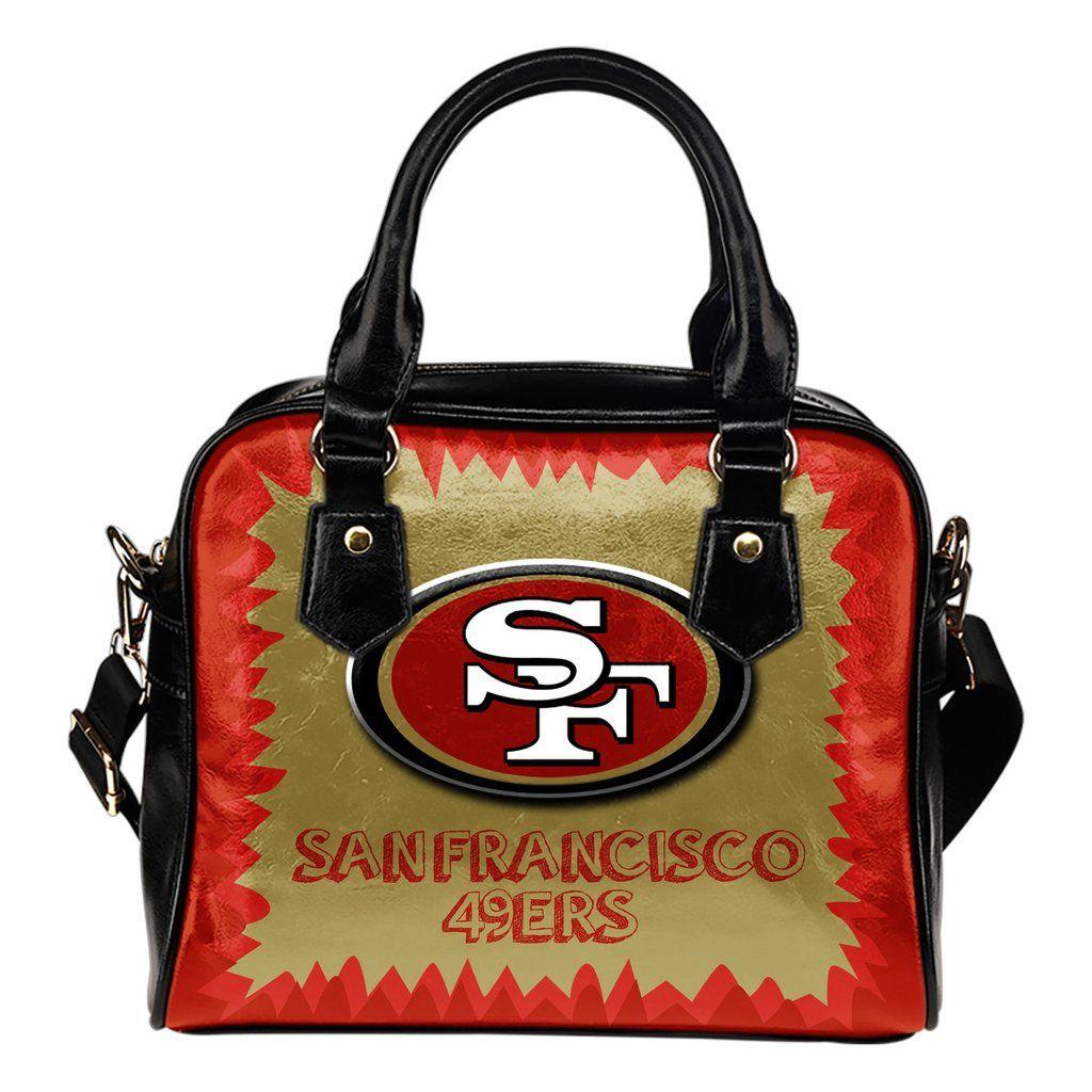 Jagged Saws Mouth Creepy San Francisco 49ers Shoulder Handbags