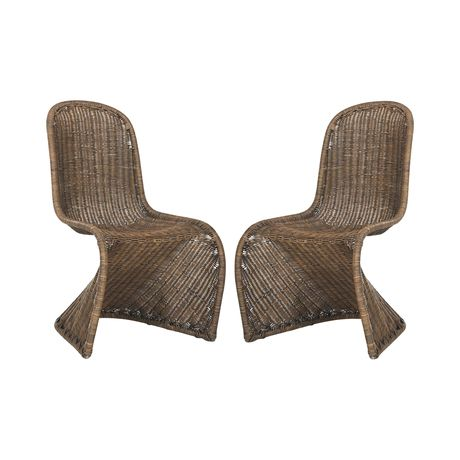 Weave a spell with rattan. Our Dorian Chair offers a contemporary take on wicker furniture with its elegant curves and chic style. Its clean white hue adds to its overall versatility.  Find the Dorian Chair, as seen in the Tropical Modern In Havana Collection at http://dotandbo.com/collections/tropical-modern-in-havana?utm_source=pinterest