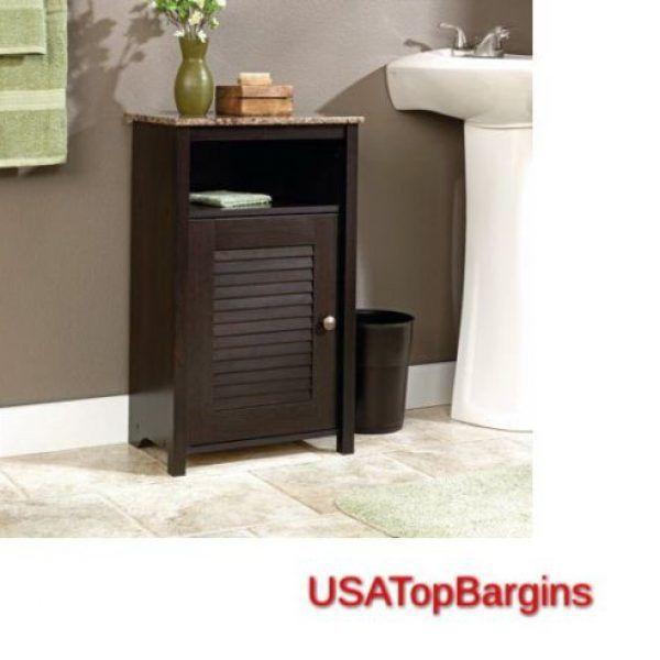 Sauder Peppercorn Bathroom Floor Cabinet