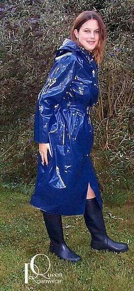 Blue Pvc Raincoat Pvc Raincoat Rain Wear Plastic Raincoat