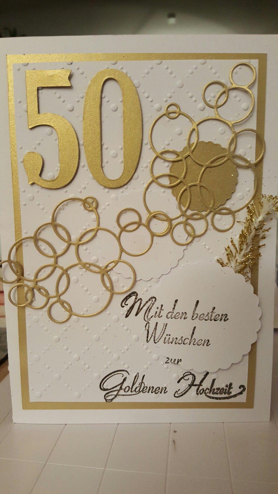 Karte zur Goldenen Hochzeit | Karten, Hochzeitstag