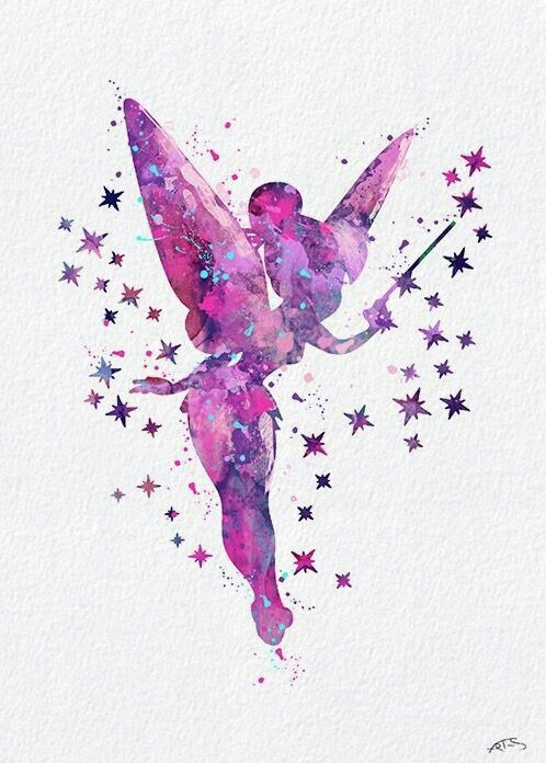 Tink Image By April Cook Watercolor Disney Disney Fairies