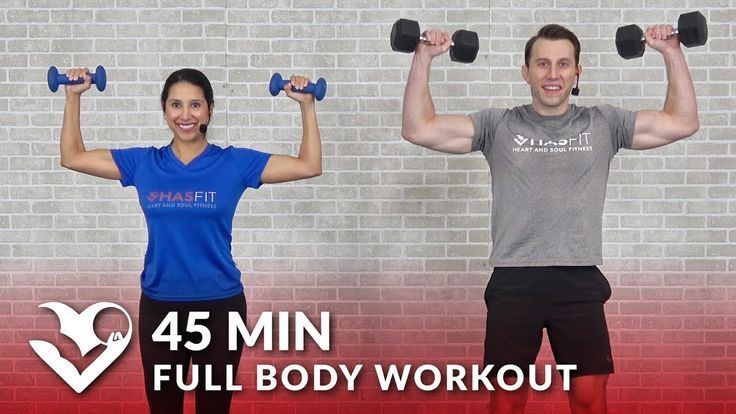Full Body Workout with Dumbbells - 45 Min Total Body Strength Workout with Weigh... -