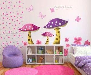 Vinilos para decorar una habitacion infantil femenina for Sticker habitacion infantil