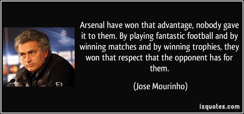 Jose Mourinho finally saying something nice about Arsenal