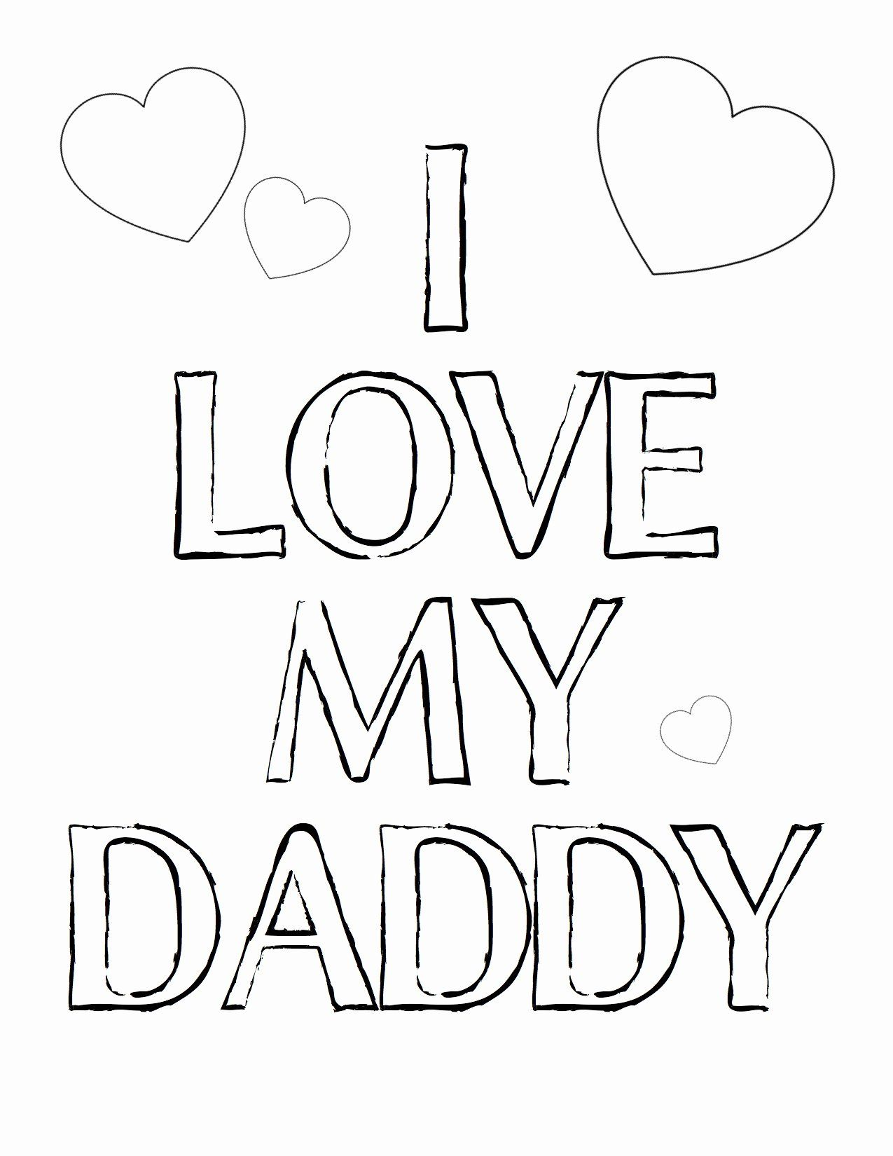 I Love Dad Coloring Pages in 2020 | Fathers day coloring ...