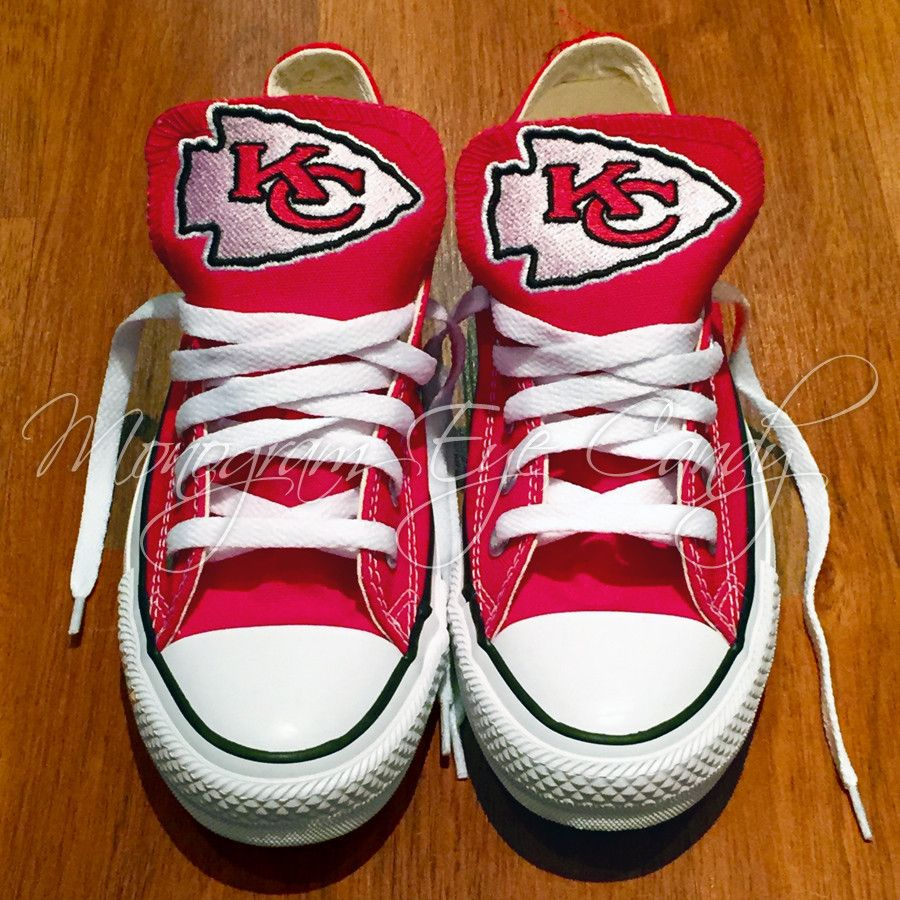 60c726216 Customized Converse Sneakers- KC Chiefs Edition – Monogram Eye Candy
