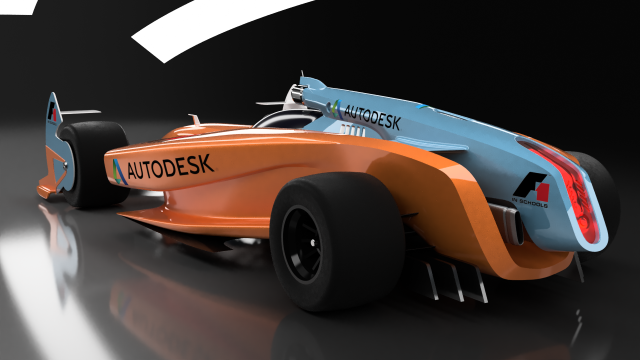 Orange And Blue Concept Race Car F1 In Schools Car Race Cars Racing
