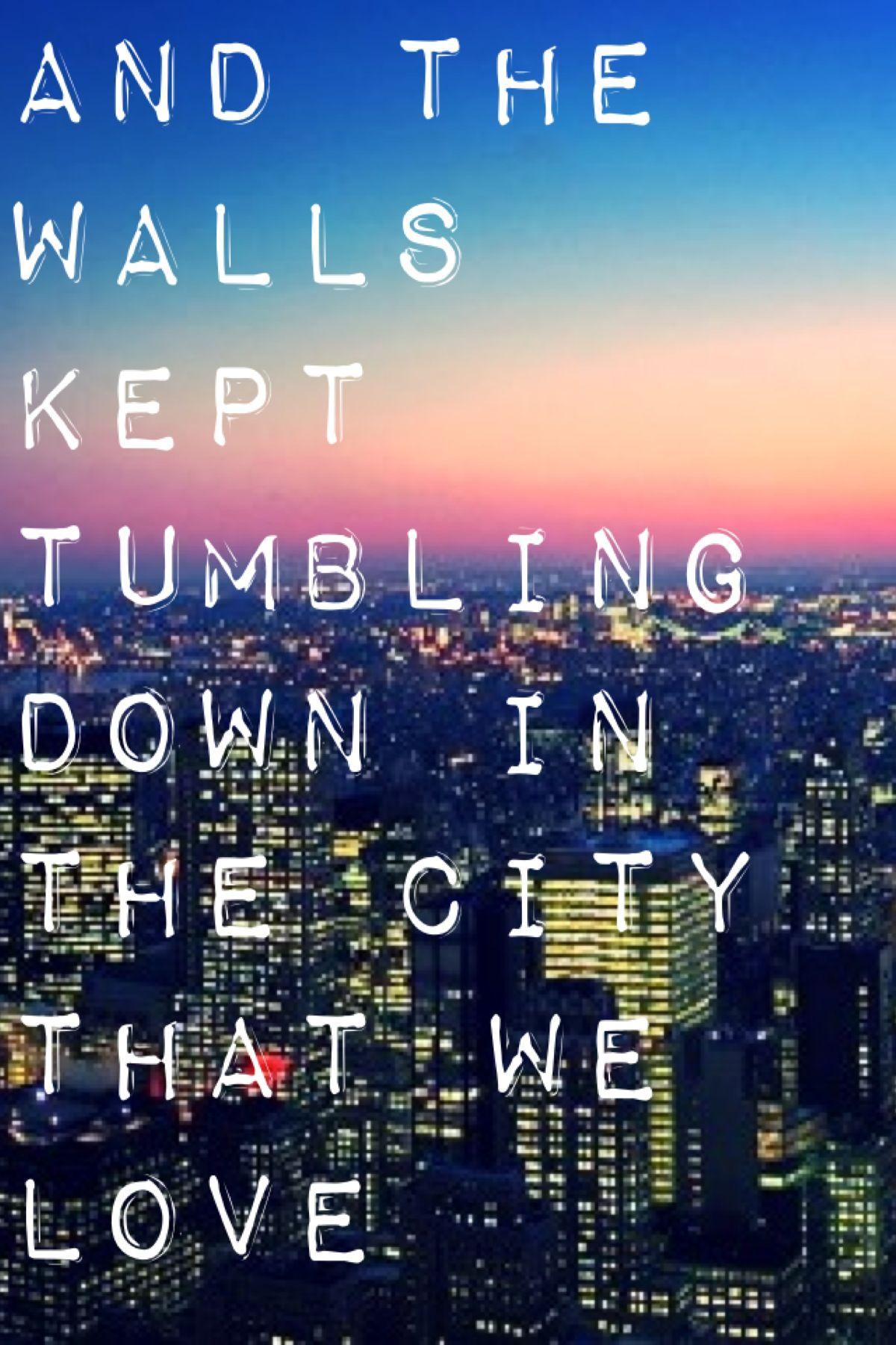Bastille - Pompeii ... This song reminds us of Owen and Columbus and grief and coping! It's almost perfect in explaining the despair!