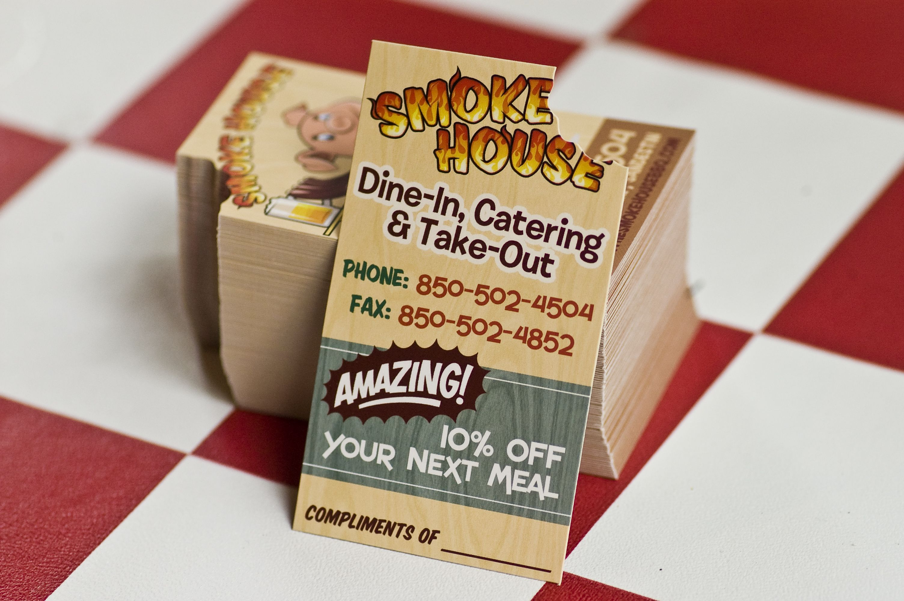 Smokehouse Bbq Business Card Welovetothink Business Cards