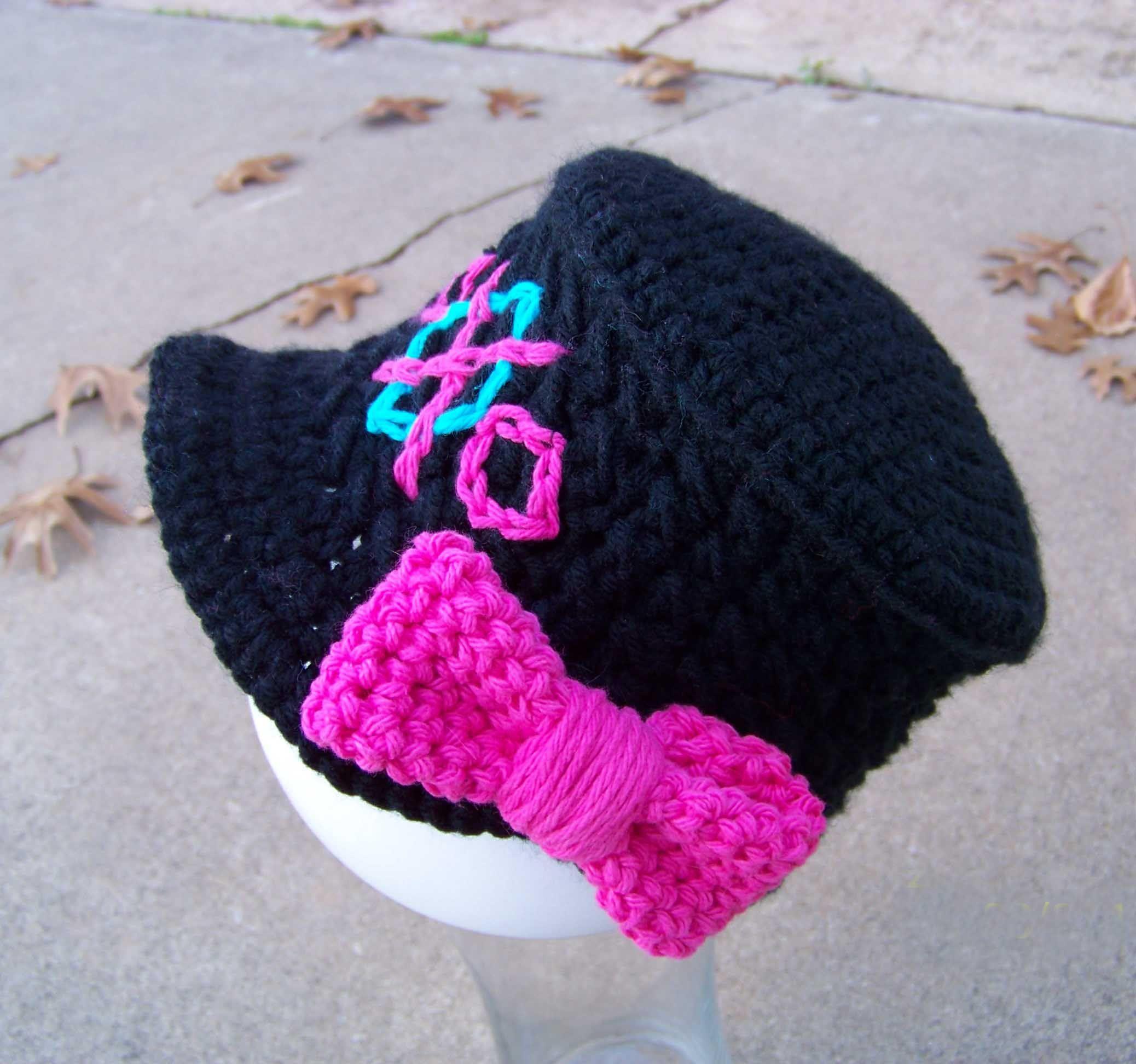Monster High Inspired Crochet Cadet Style Cap | Gorros, Crochet bebe ...