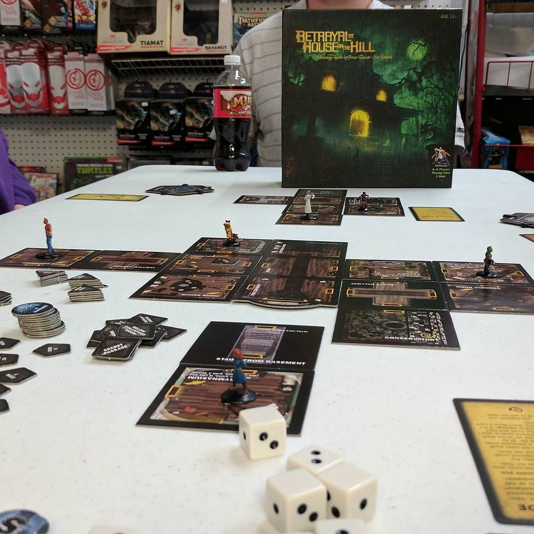 Friday Night Gaming Betrayal at House On the Hill! I was