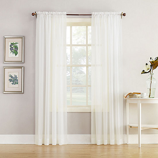 Home Expressions Jacqueline Rod Pocket Sheer Panel Pair Sheer