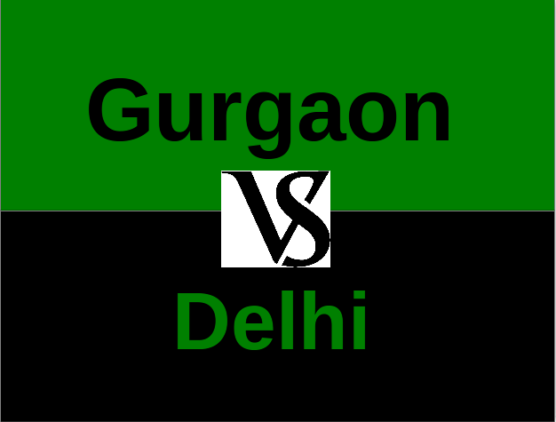 Property developers in Gurgaon are giving a tough competition to Delhi's properties in terms of prices, amenities and locations.
