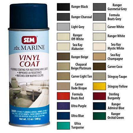 Sem Marine Vinyl Coat Spray Boat Cleaning Pontoon Boat Seats