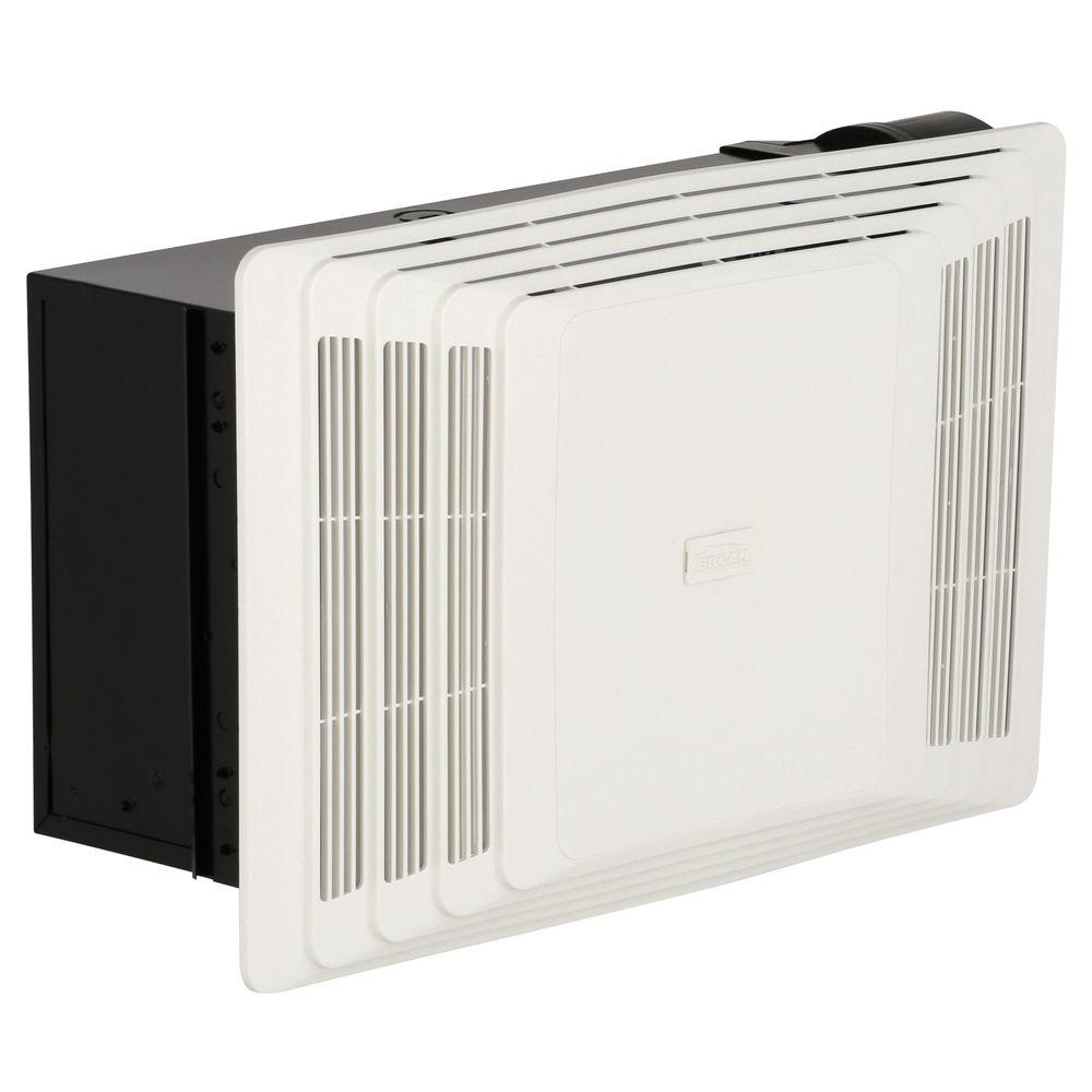 Broan 70 Cfm Ceiling Bathroom Exhaust Fan With Heater White