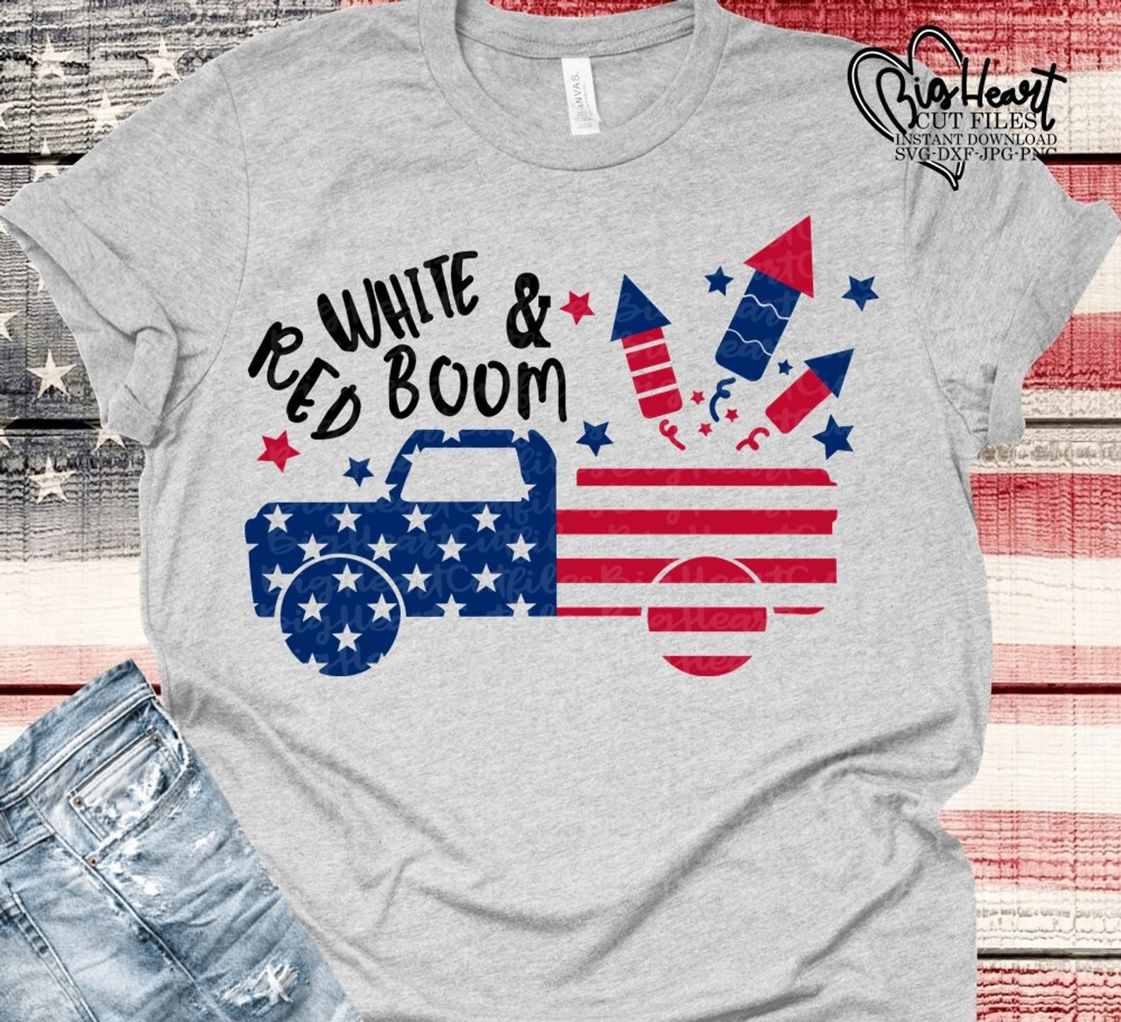 1628+ 4Th Of July Truck Svg – SVG,PNG,EPS & DXF File Include