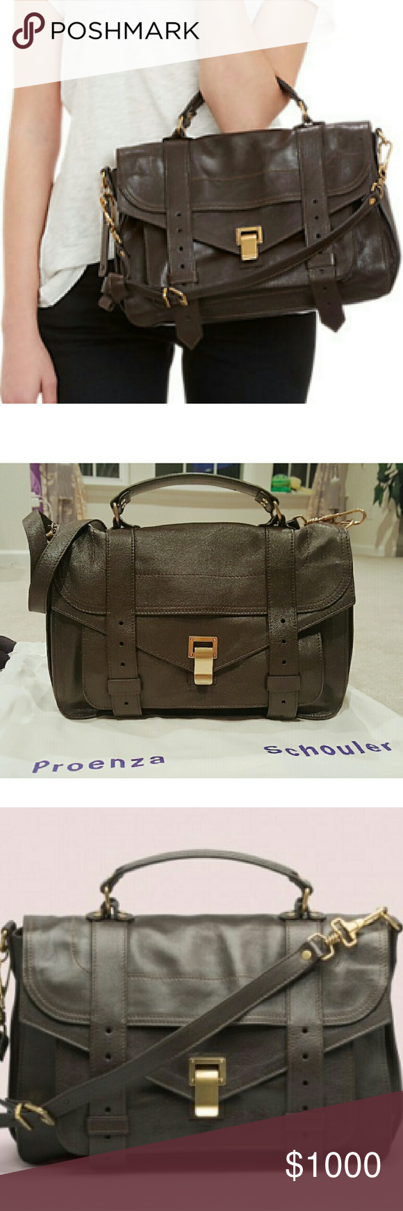 BRAND NEW*** Proenza Schouler PS1 Bag (chocolate) Selling a BRAND NEW Proenza Schouler PS1 Medium leather Satchel bag in excellent condition.  The owner has never wore/used it. Selling it for a discounted price. Great color for winter! If you have any questions/interests, do not hesitate to reach out: xhuangx88@gmail.com Proenza Schouler Bags Shoulder Bags