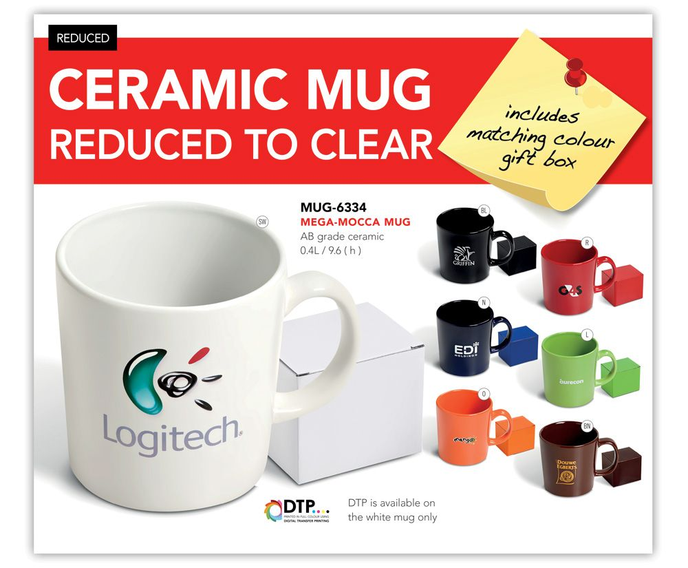 Ceramic Mug Reduced To Clear Corporate Gifts Mugs Promotional Gifts