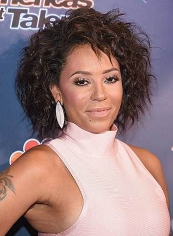 Mel B New Bob Curly Hairstyles Pictures Curly Hair