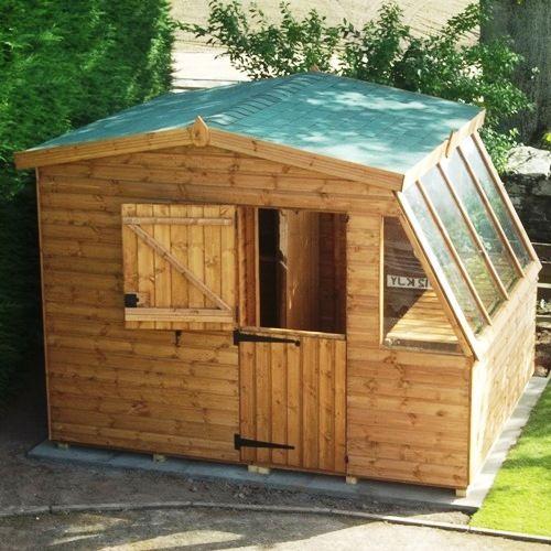 Greenhouse potting sheds upgraded combi potting shed for Potting shed plans diy blueprints