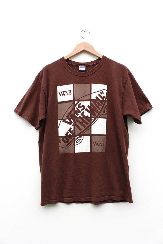 Vintage Vans T shirt 90s Vans Off The Wall Grunge Skate