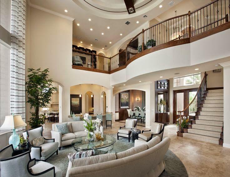 Salas de estar decoradas salas de estar com p direito for Sala de estar off white