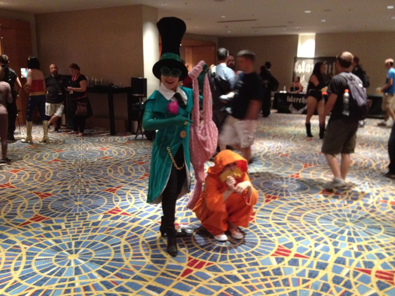 Lorax and friend cosplay